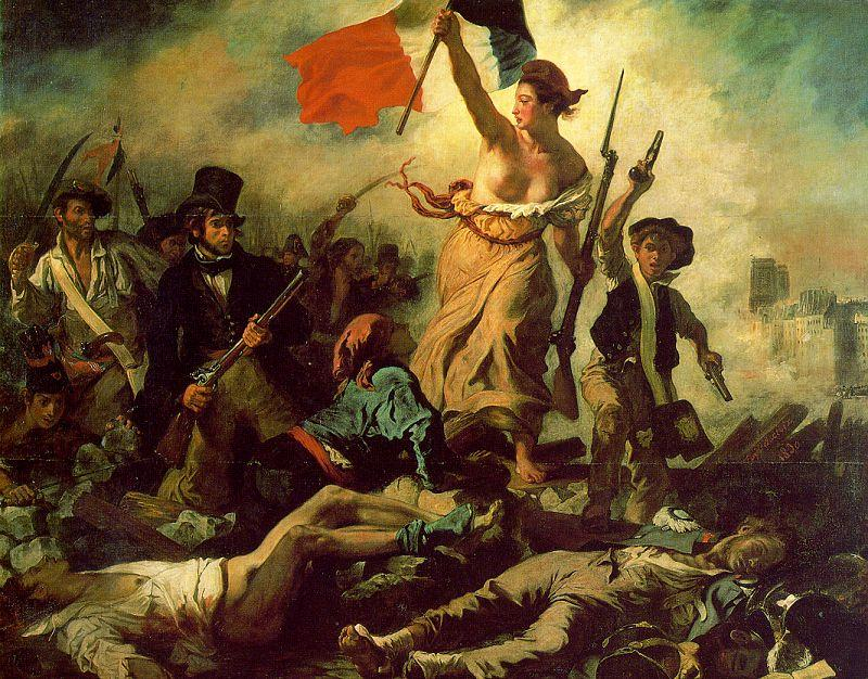 Eugene Delacroix Liberty Leading the People oil painting image