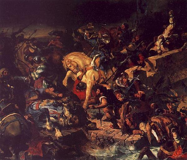 Eugene Delacroix The Battle of Taillebourg oil painting image