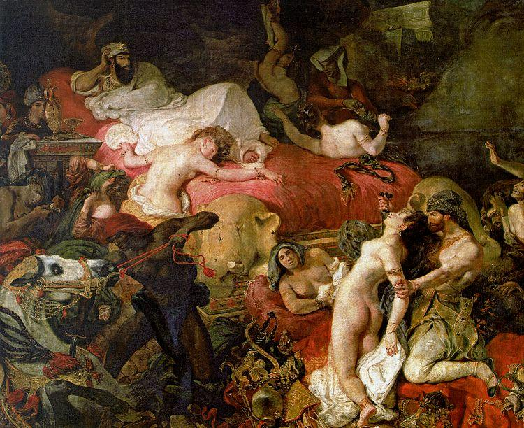Eugene Delacroix The Death of Sardanapalus oil painting image