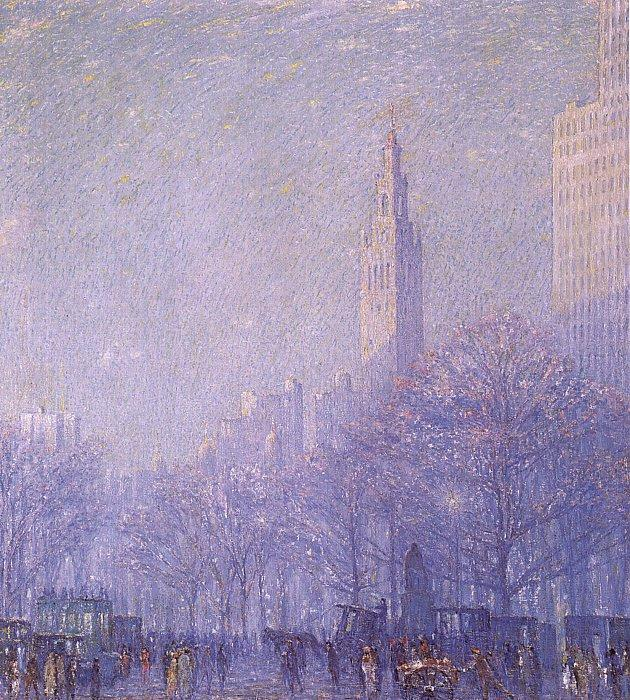 F Usher De Voll Madison Square oil painting image