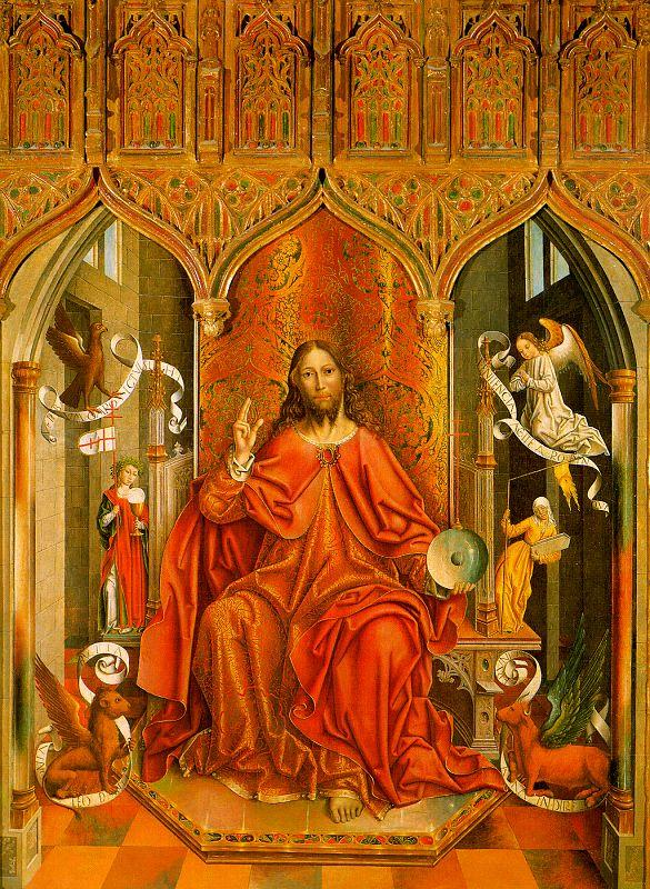 Fernando  Gallego Christ Giving his Blessing oil painting image