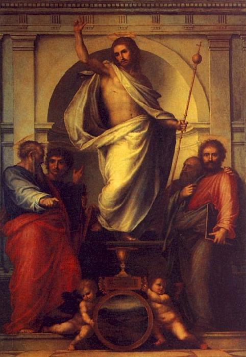 Fra Bartolommeo Resurrected Christ with Saints oil painting image