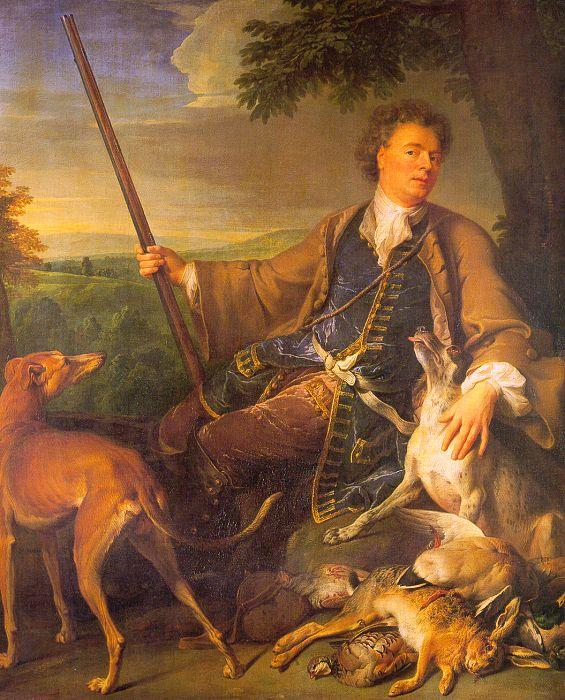 Francois Desportes Self Portrait in Hunting Dress oil painting image