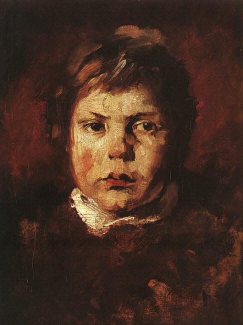 Frank Duveneck A Child's Portrait France oil painting art