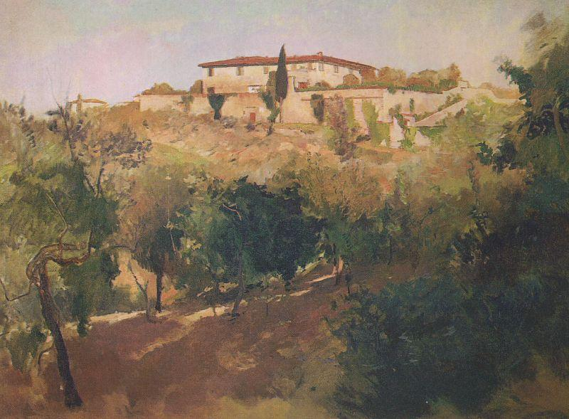 Frank Duveneck Villa Castellani, Bellosguardo France oil painting art