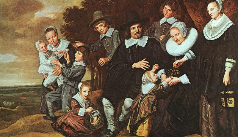 Frans Hals A Family Group in a Landscape oil painting image