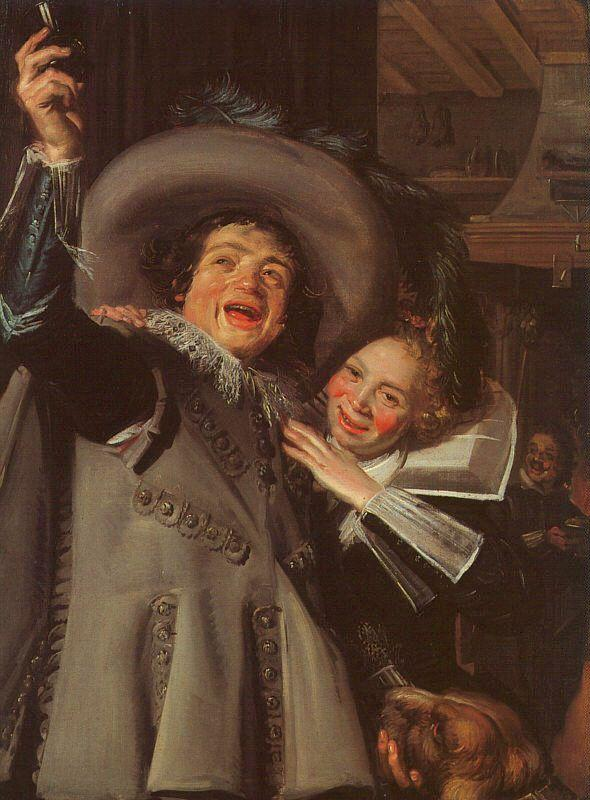 Frans Hals Young Man and Woman in an Inn oil painting image