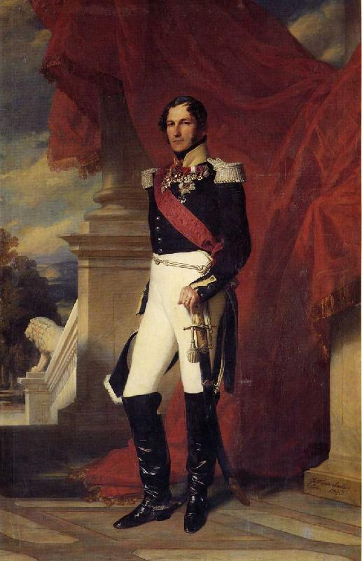 Franz Xaver Winterhalter Leopold I, King of the Belgians oil painting image