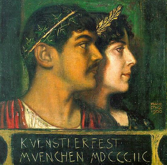 Franz von Stuck Franz and Mary Stuck as a God and Goddess France oil painting art