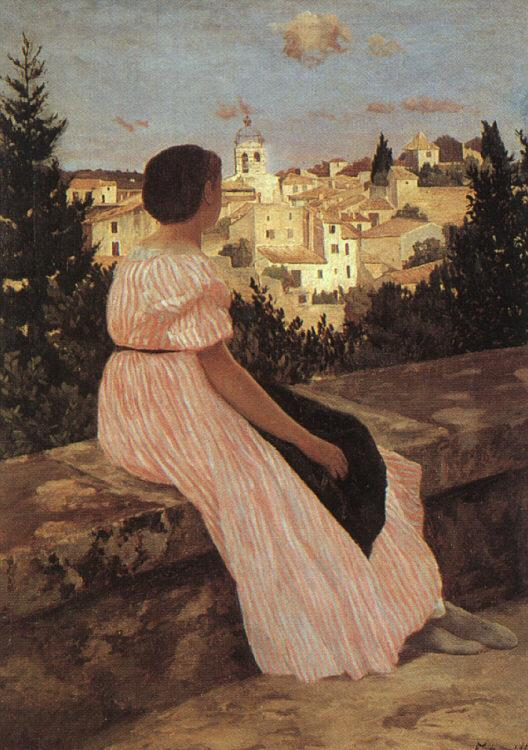 Frederic Bazille The Pink Dress oil painting image