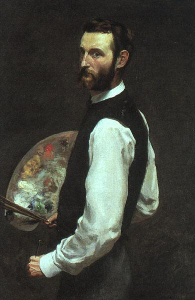 Frederic Bazille Self Portrait oil painting image