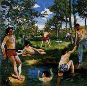 Frederic Bazille Summer Scene oil painting image