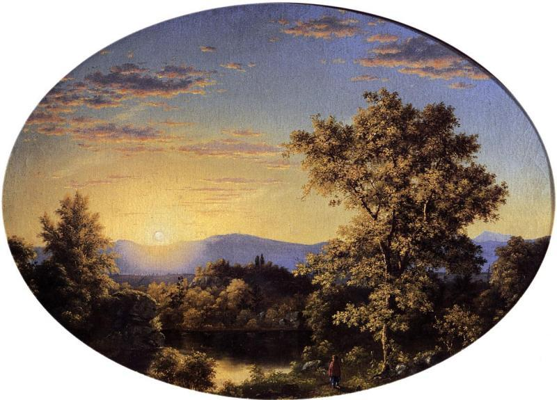 Frederic Edwin Church Twilight among the Mountains oil painting image