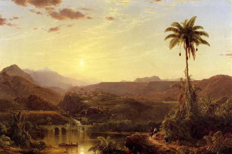 Frederic Edwin Church The Cordilleras Sunrise oil painting image