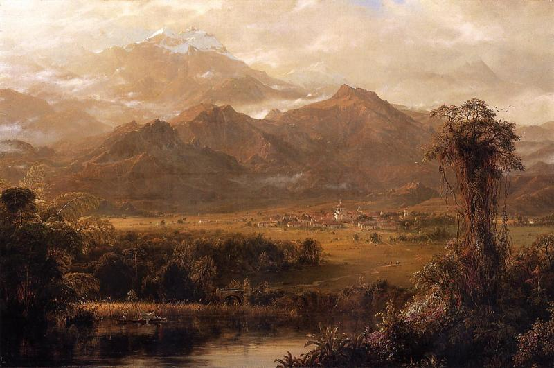 Frederic Edwin Church Mountains of Ecuador oil painting image