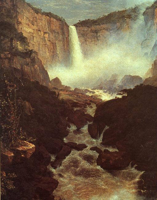 Frederick Edwin Church The Falls of Tequendama France oil painting art