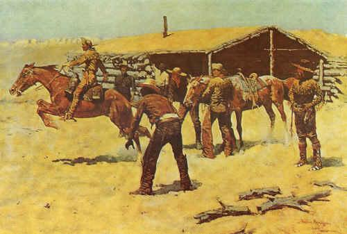 Frederick Remington Coming and Going of the Pony Express France oil painting art