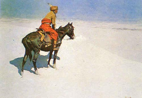 Frederick Remington The Scout : Friends or Enemies France oil painting art