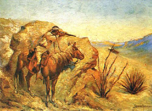 Frederick Remington Apache France oil painting art