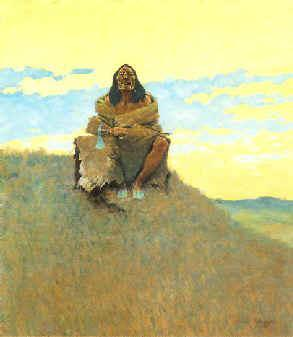 Frederick Remington When Heart is Bad France oil painting art