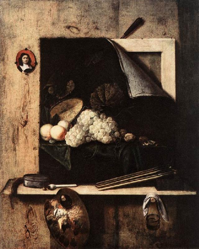 GIJBRECHTS, Cornelis Still-Life with Self-Portrait fgh oil painting image
