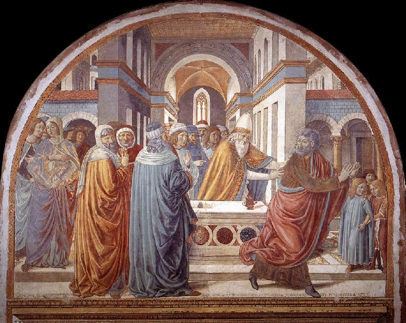 GOZZOLI, Benozzo Expulsion of Joachim from the Temple g oil painting image