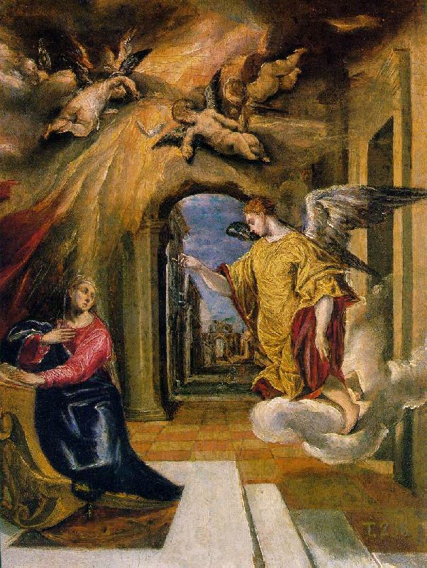 GRECO, El The Annunciation sdgm oil painting image