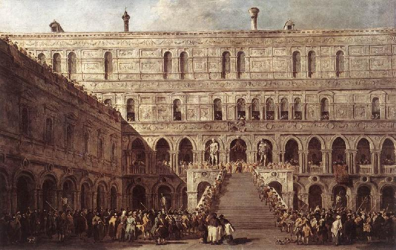 GUARDI, Francesco The Coronation of the Doge dfg oil painting image