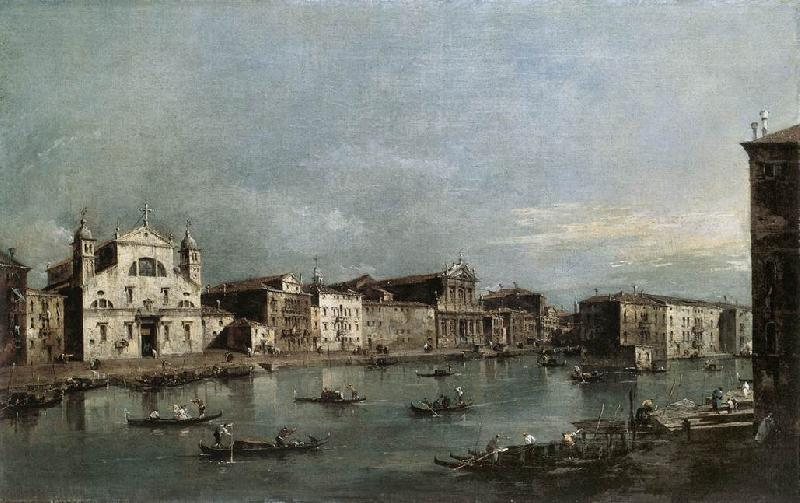 GUARDI, Francesco The Grand Canal with Santa Lucia and the Scalzi dfh oil painting image