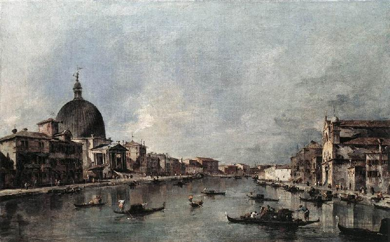 GUARDI, Francesco The Grand Canal with San Simeone Piccolo and Santa Lucia sdg oil painting image