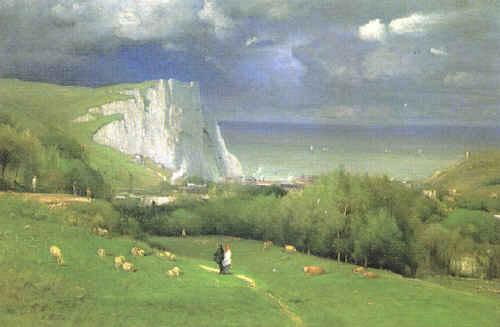 George Inness Etretat France oil painting art