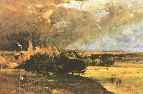 George Inness Coming Storm France oil painting art