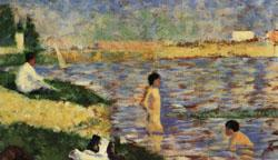 Georges Seurat Les Poseuses France oil painting art