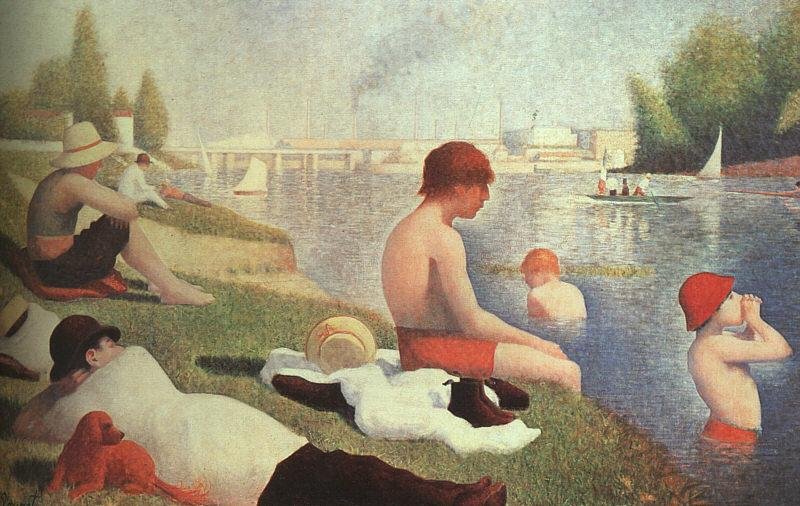 Georges Seurat Bathing at Asniers France oil painting art