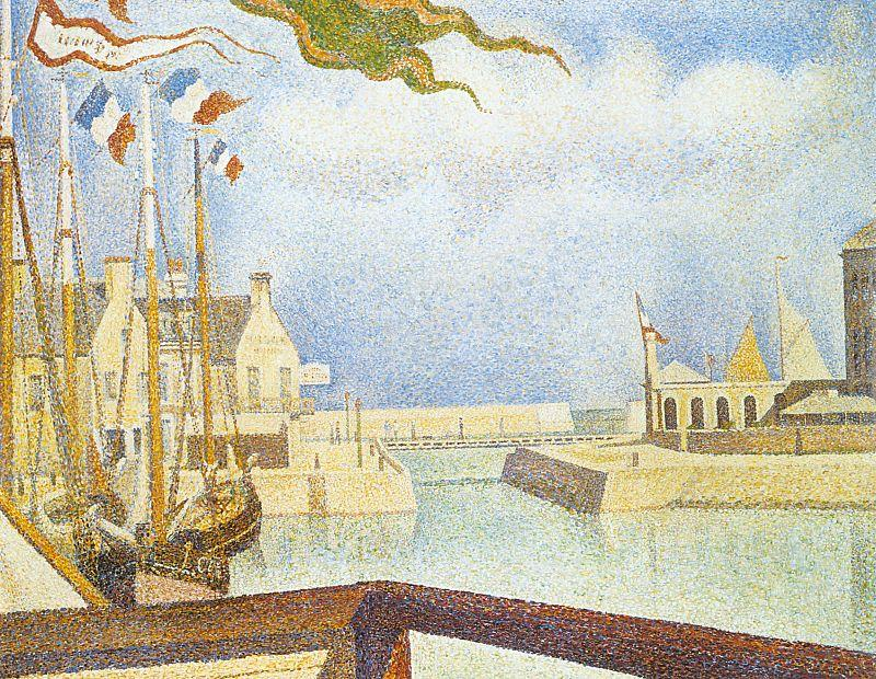 Georges Seurat Port en Bessin, Sunday France oil painting art