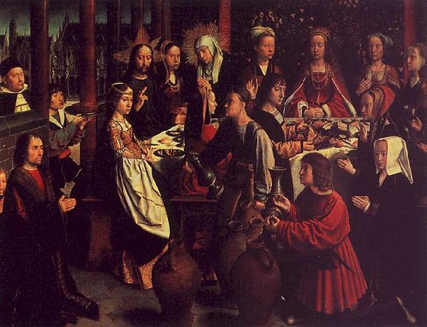 Gerard David The Marriage Feast at Cana oil painting image