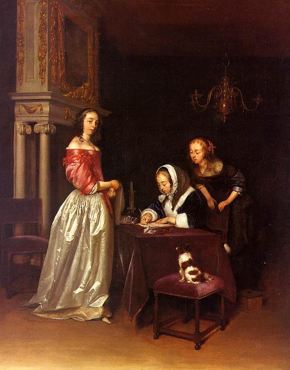 Gerard Ter Borch Curiosity oil painting image