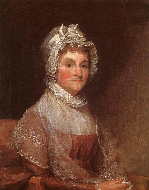 Gilbert Charles Stuart Abigail Adams France oil painting art