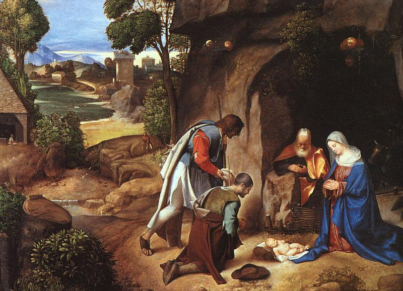 Giorgione The Adoration of the Shepherds oil painting image
