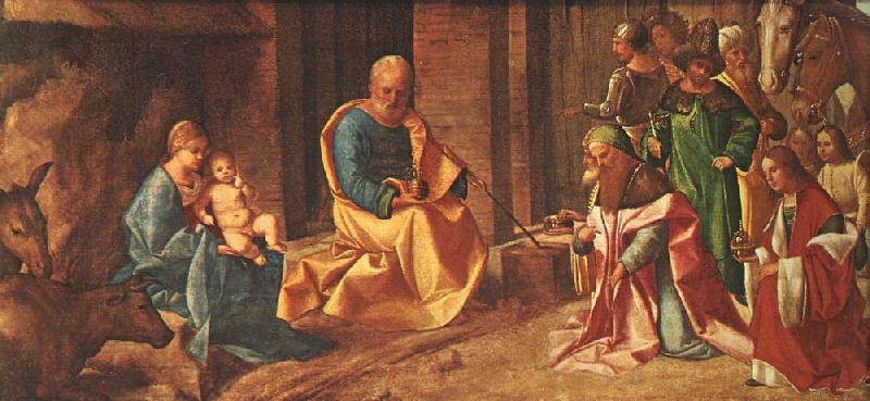Giorgione Adoration of the Magi oil painting image