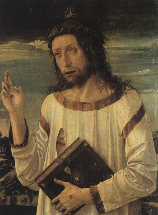 Giovanni Bellini Christ's Blessing oil painting image