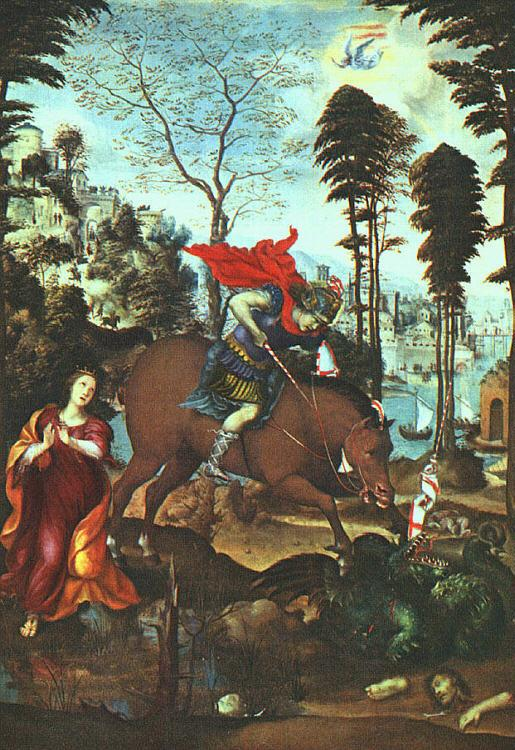 Giovanni Sodoma St.George and the Dragon France oil painting art