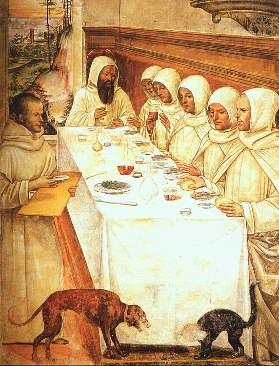 Giovanni Sodoma St.Benedict his Monks Eating in the Refectory France oil painting art