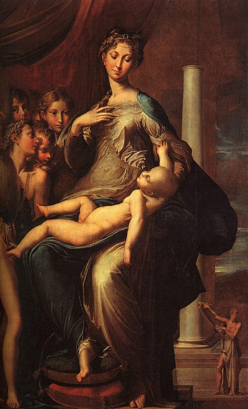 Girolamo Parmigianino The Madonna with the Long Neck oil painting image