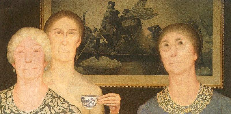 Grant Wood Daughters of the Revolution France oil painting art