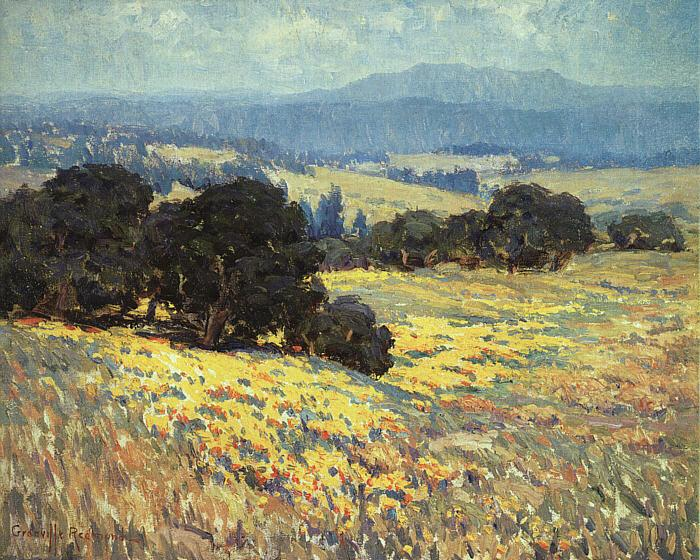 Granville Redmond California Oaks and Poppies France oil painting art