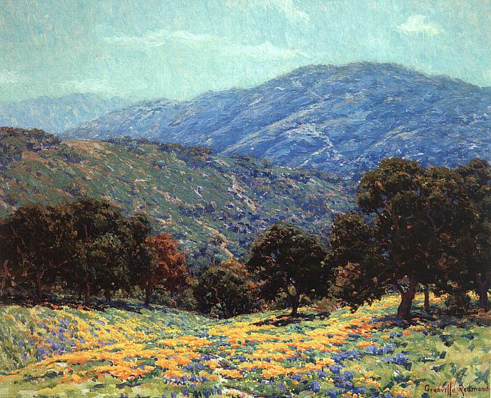Granville Redmond Flowers Under the Oaks France oil painting art