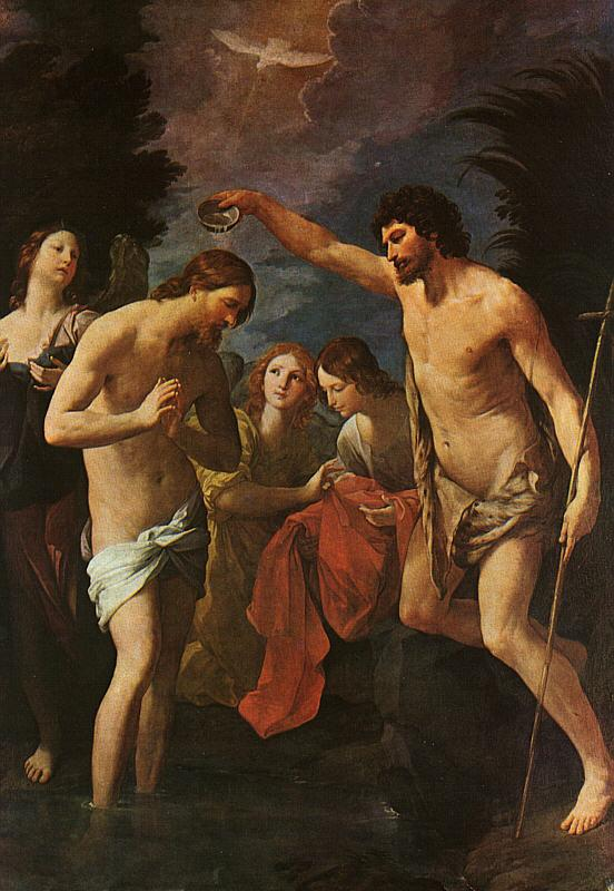 Guido Reni Baptism of Christ France oil painting art