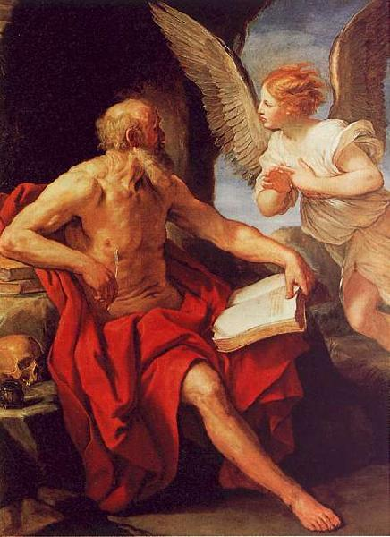 Guido Reni Saint Jerome and the Angel France oil painting art