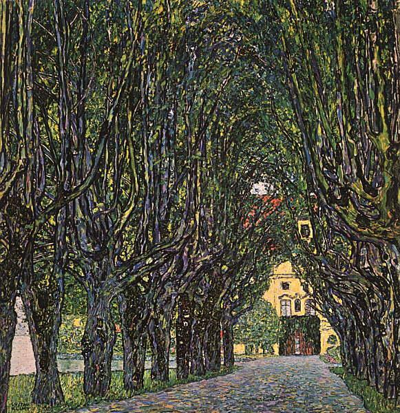 Gustav Klimt Avenue in Schloss Kammer Park oil painting image